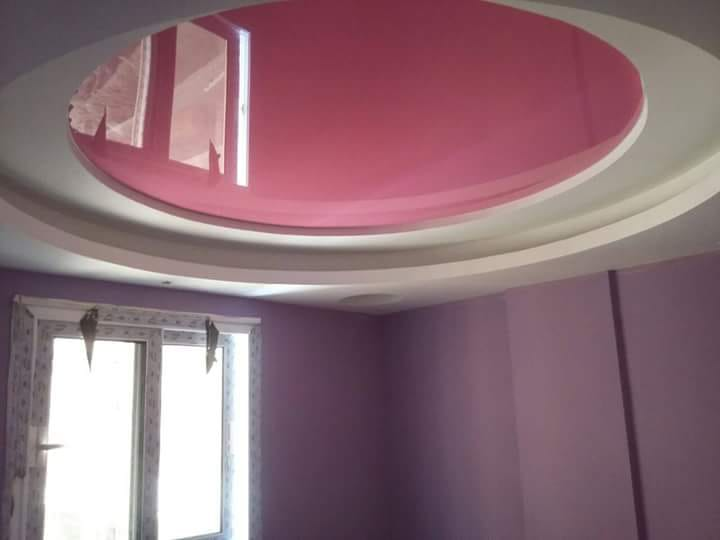 glossy stretch ceiling
